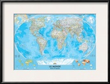 French Classic World Map Art