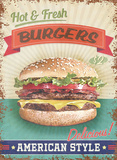 Delicious Burgers Tin Sign