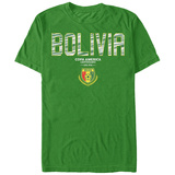 COPA America- Bolivia Flag Shield T-shirts