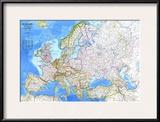 1983 Europe Map Prints