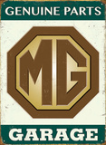 MG Genuine Parts Tin Sign
