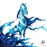 Marc Allante- Blue Horse Posters by Marc Allante