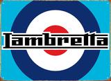 Lambretta Target Plakietka emaliowana