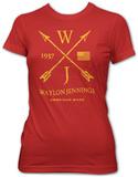 Juniors: Waylon Jennings- American Made T-shirts