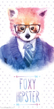 Foxy Hipster Posters