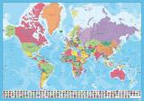 Mapa del Mundo Desk Mat Skrivebordsunderlag