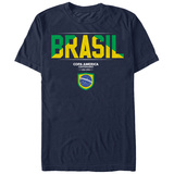 COPA America- Brasil Flag Shield T-Shirt