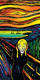 Howie Green- Scream Print by Howie Green