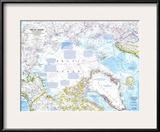 1983 Arctic Ocean Map Print