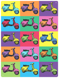 Vespa Pop Art Plaque en métal