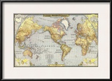 1943 World Map Prints