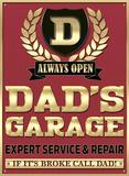 Dad's Garage Plechová cedule