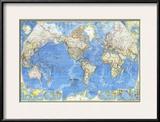 1970 World Map Print