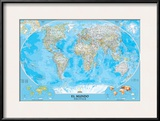 Spanish Classic World Map Posters