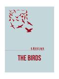 Drôles d'oiseaux sur une ligne à haute tension / For the Birds Reproduction giclée Premium par David Brodsky