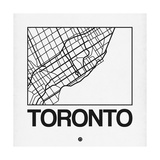 White Map of Toronto Print by  NaxArt