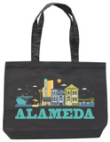Alameda Asphalt Canvas Canvas Tote Tote Bag