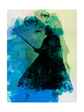 Darth Fighting Watercolor Prints by Lora Feldman