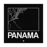Black Map of Panama Pôsteres por  NaxArt