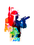 Star Warrior Boba Fett Watercolor Poster av Lora Feldman