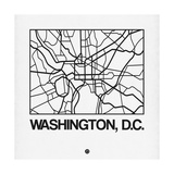 White Map of Washington, D.C. Prints by  NaxArt