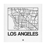 White Map of Los Angeles Art by  NaxArt
