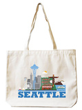 Seattle Natural Canvas Tote Tote Bag