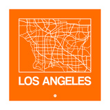Orange Map of Los Angeles Prints by  NaxArt
