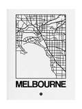 White Map of Melbourne Posters by  NaxArt