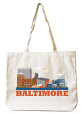 Baltimore Natural Canvas Tote Tote Bag