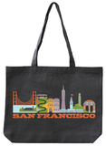 San Francisco Asphalt Canvas Tote Tote Bag