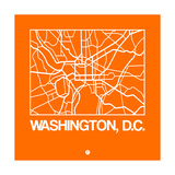 Orange Map of Washington, D.C. Art by  NaxArt