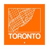 Orange Map of Toronto Posters by  NaxArt