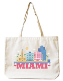 Miami Natural Canvas Tote Tote Bag