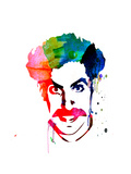 Borat Watercolor Posters by Lora Feldman