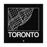Black Map of Toronto Prints by  NaxArt