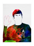 Spock Watercolor Poster by Lora Feldman