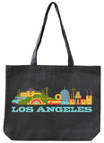 Los Angeles Asphalt Canvas Tote Tote Bag