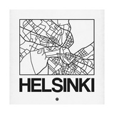 White Map of Helsinki Posters by  NaxArt