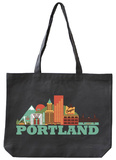 Portland Asphalt Canvas Tote Tote Bag