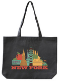 New York Asphalt Canvas Tote Tote Bag