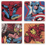 Marvel Comics 4 Pc. Ceramic Coaster Set Coaster
