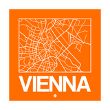 Orange Map of Vienna Posters by  NaxArt