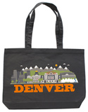 Denver Asphalt Canvas Tote Tote Bag