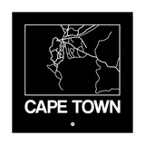 Black Map of Cape Town Plakater af NaxArt