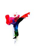 Karate Kid Watercolor Kunstdrucke von Lora Feldman