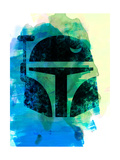 Boba Helmet Watercolor Prints by Lora Feldman