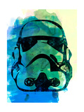 Trooper Helmet Watercolor Posters by Lora Feldman