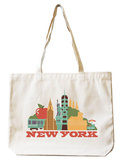 New York Natural Canvas Tote Tote Bag