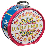The Beatles Sgt. Pepper's Drum Shaped Tin Lunchbox Lunch Box